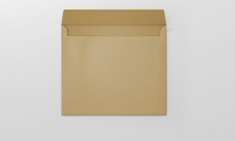 מעטפות חומות מרובעות 16X16